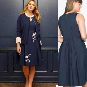 Draper James x Eloquii Embellished Floral Dress